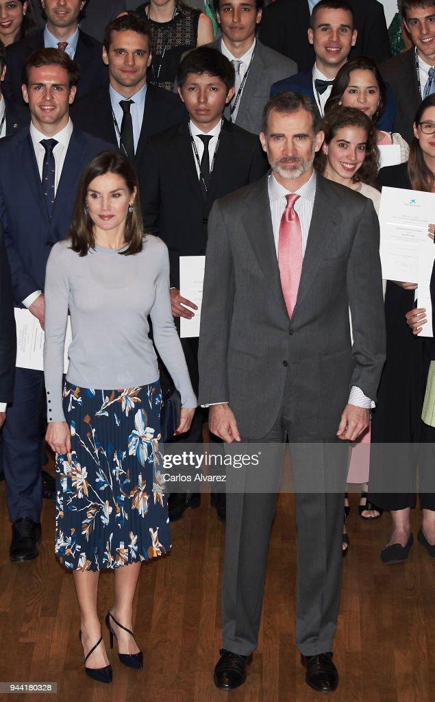 Spanish Royals Deliver 'La Caixa' Scholaships : News Photo