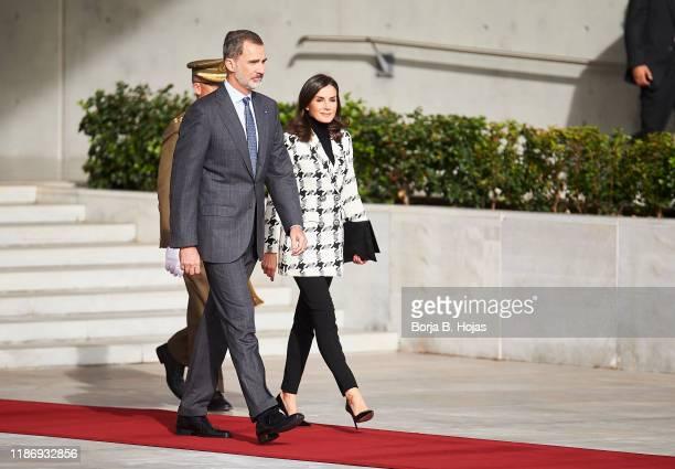 King Felipe VI of Spain and Queen Letizia of Spain depart for Cuba on November 11, 2019 in Madrid, Spain.