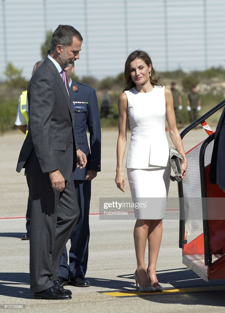 King Felipe VI of Spain and Queen Letizia of Spain depart from Barajas Airport for an official visit to United Kingdom on July 11, 2017 in Madrid, Spain.
