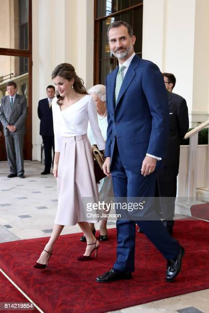 King Felipe VI of Spain and Queen Letizia of Spain during a State visit by the King and Queen of Spain on July 14 2017 in London England This is the...
