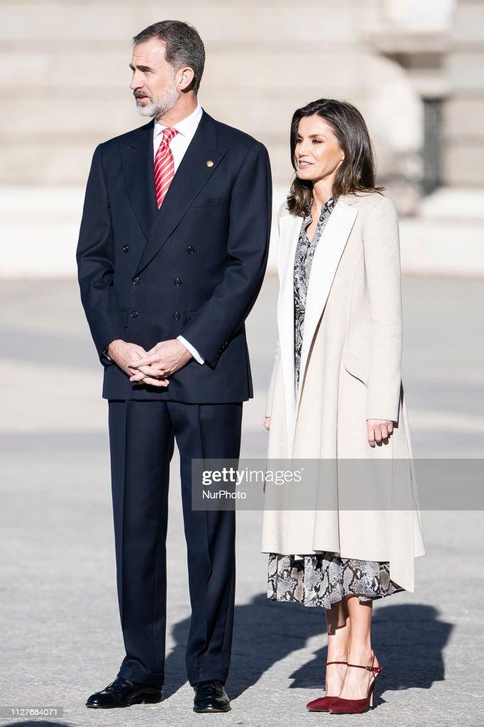 Spanish Royals Receive The President Of Peru : News Photo