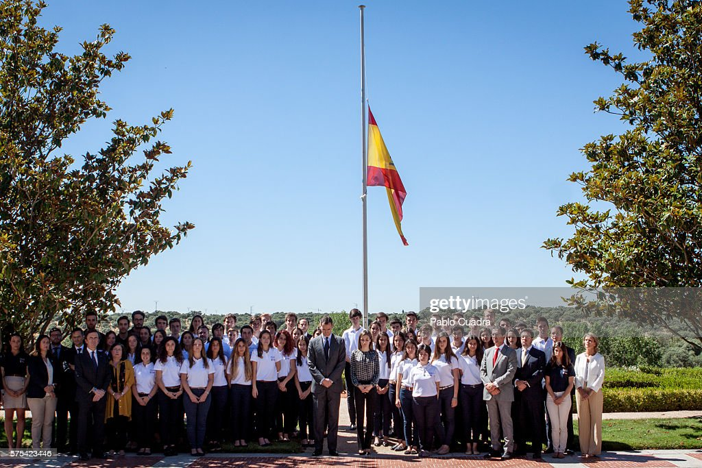 Spanish Royals Pay Their Respects To Victims Of Nice Attack : News Photo