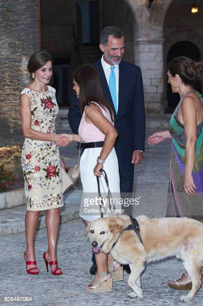 King Felipe VI of Spain and Queen Letizia of Spain host a dinner for authorities at the Almudaina Palace on August 4 2017 in Palma de Mallorca Spain