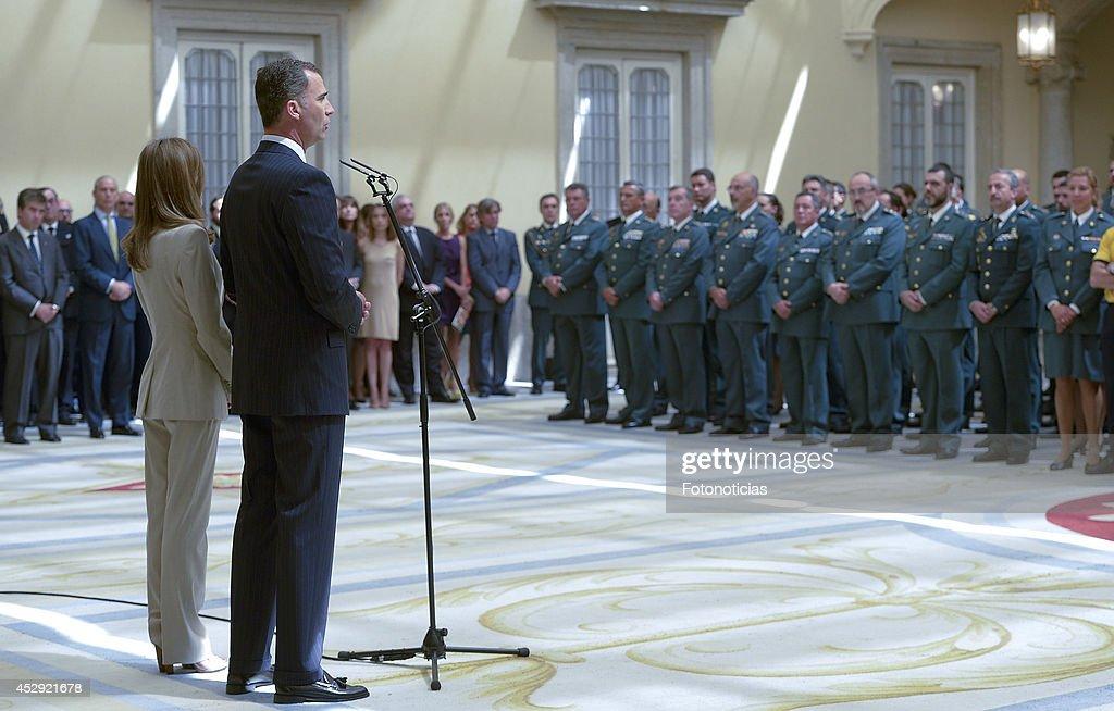 Spanish Royals Host Reception At El Pardo Palace : News Photo