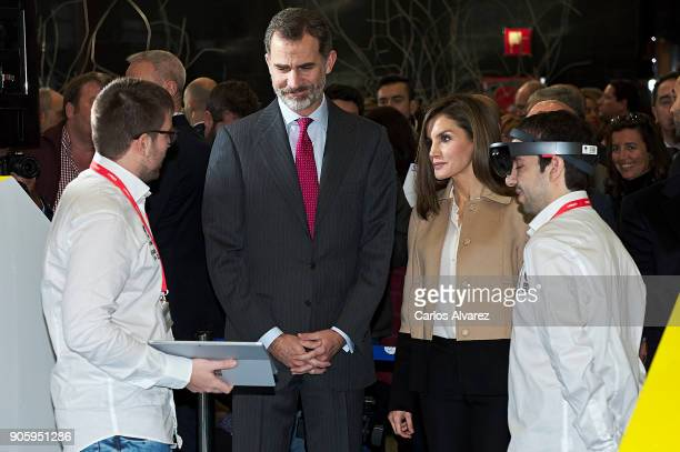 King Felipe VI of Spain and Queen Letizia of Spain inaugurate FITUR International Tourism Fair 2018 at Ifema on January 17 2018 in Madrid Spain