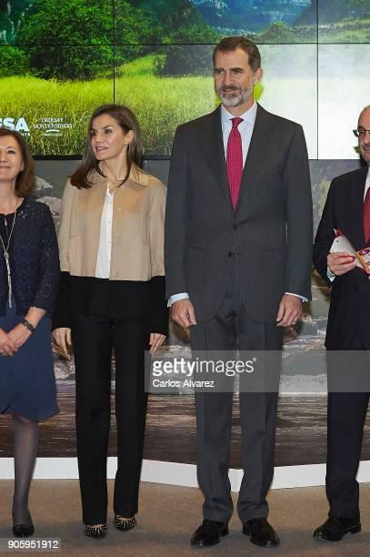 King Felipe VI of Spain and Queen Letizia of Spain inaugurate FITUR International Tourism Fair 2018 at Ifema on January 17 2018 in Madrid Spain