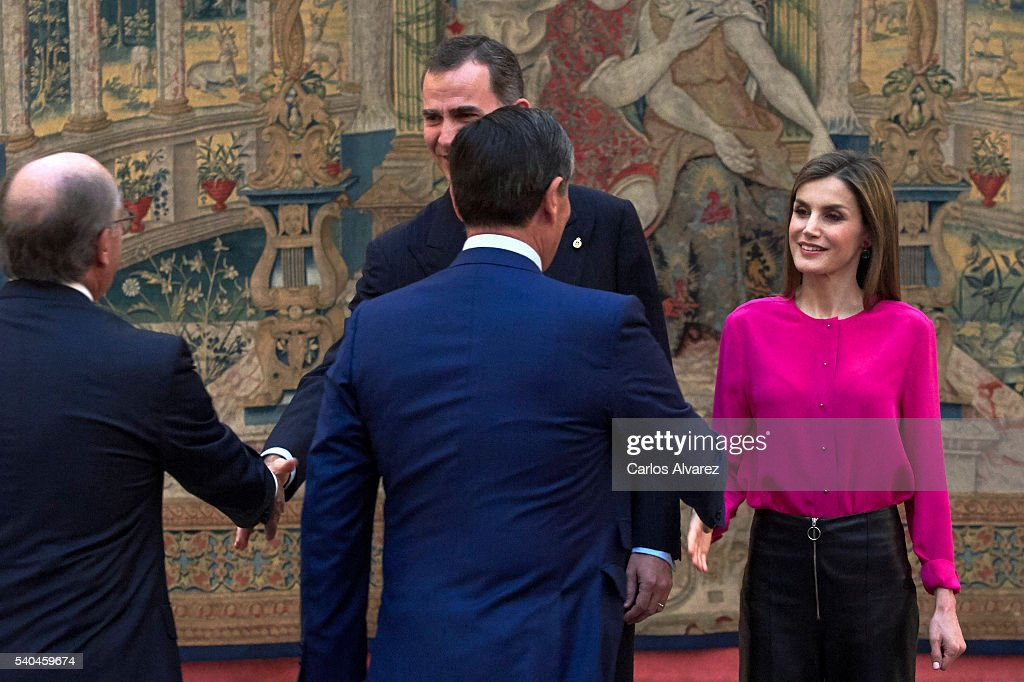Spanish Royals Meet Princess of Asturias Foundation : ニュース写真