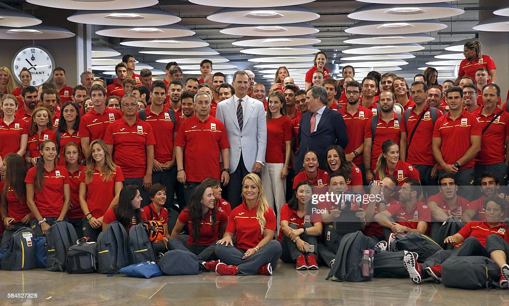 King Felipe VI Of Spain And Queen Letizia Of Spain Attend The Spanish Olimpic Team Farewell : News Photo