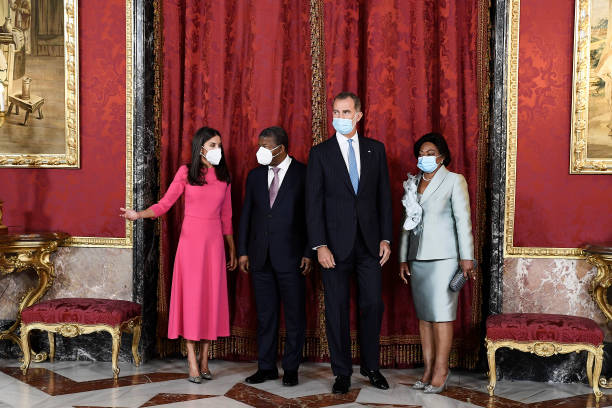 ESP: Spanish Royals Host A Lunch With The President Of Angola