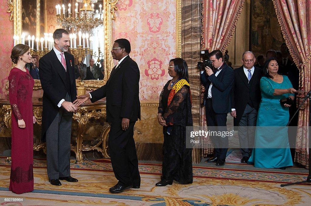 Spanish Royals Receive Diplomats At The Royal Palace : News Photo