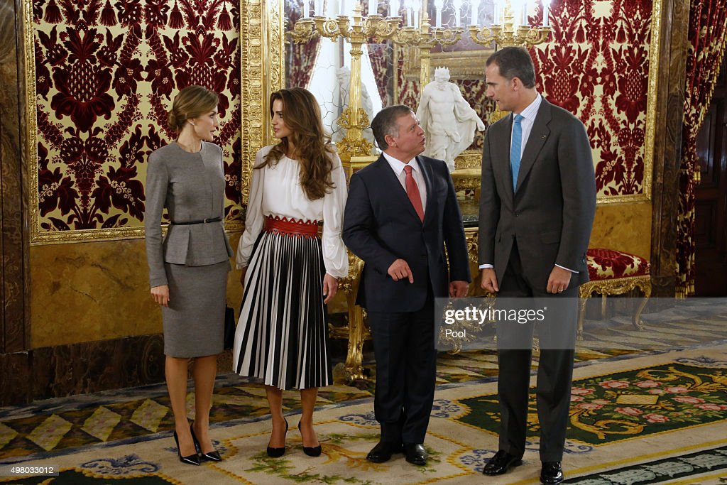 Spanish Royals Host a Official Lunch For Jordan Royals : News Photo