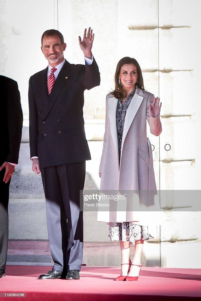 Letizia of Spain recycles a 40-year-old dress from her mother-in-law Queen Sofías wardrobe