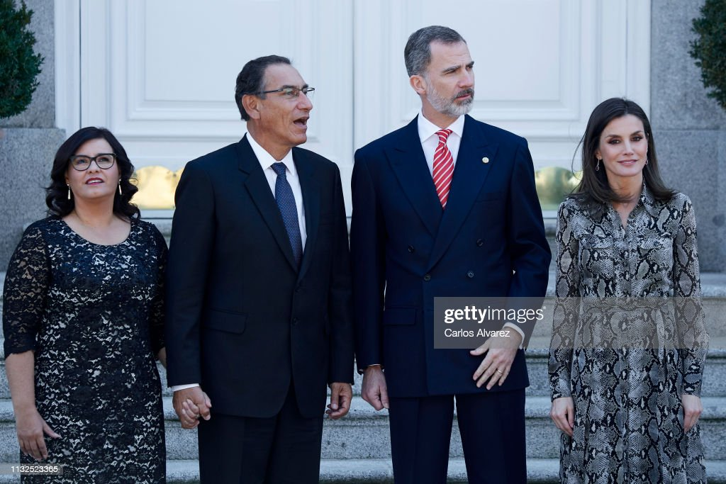 Spanish Royals Host An Official Lunch For President Of Peru And His Wife : News Photo