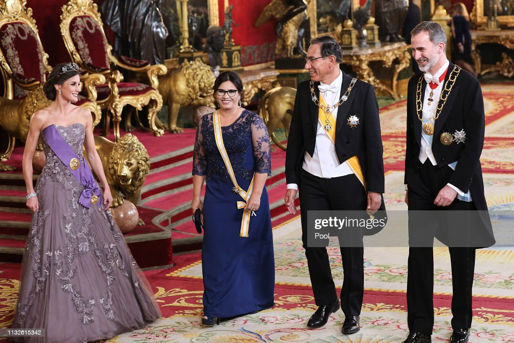 Spanish Royals Host A Gala Dinner For President Of Peru And His Wife : News Photo