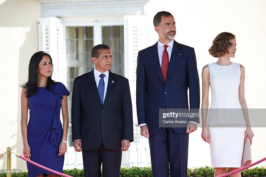 Spanish Royals Meet President of Peru : News Photo