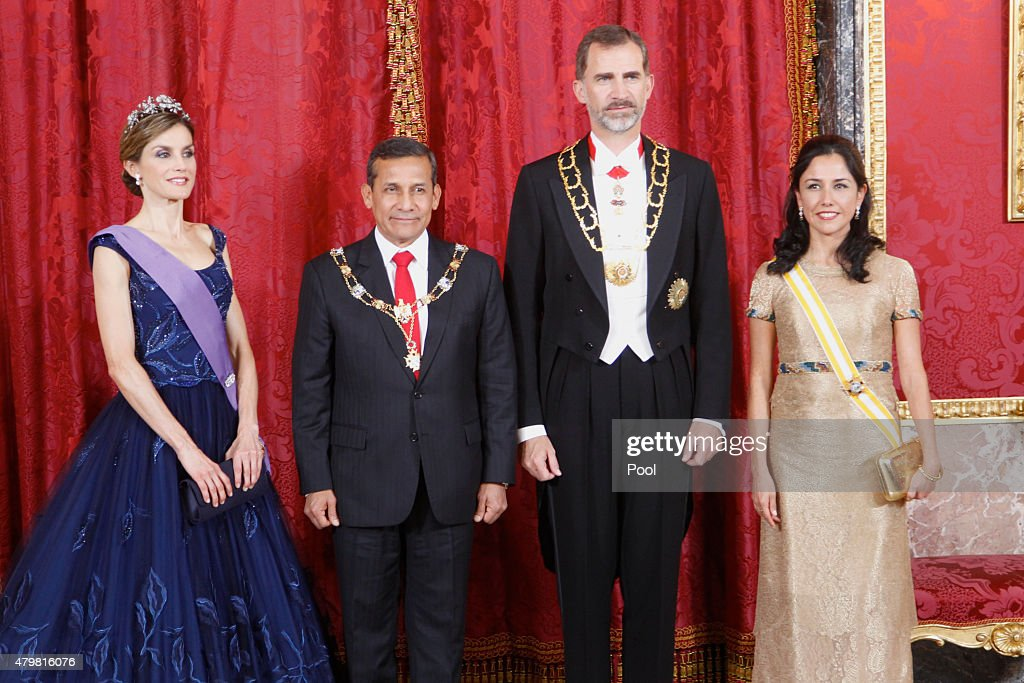 Spanish Royals Host a Dinner for President of Peru : News Photo