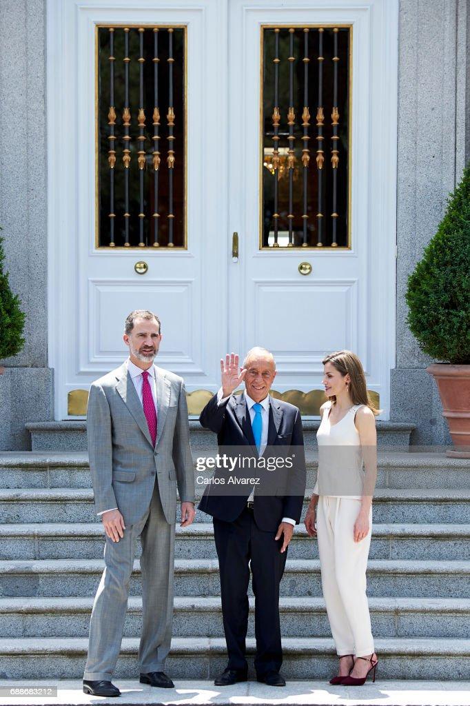 Spanish Royals Host an Official Lunch For Marcelo Rebelo De Sousa