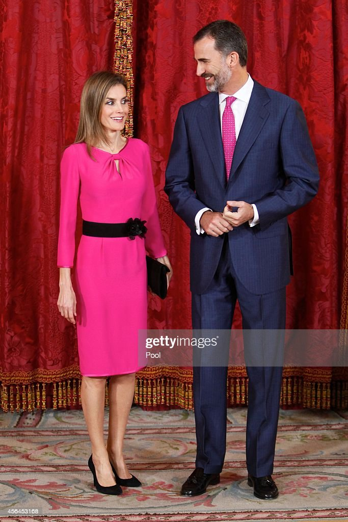 Spanish Royals Receives President of Honduras Republic in Madrid : News Photo