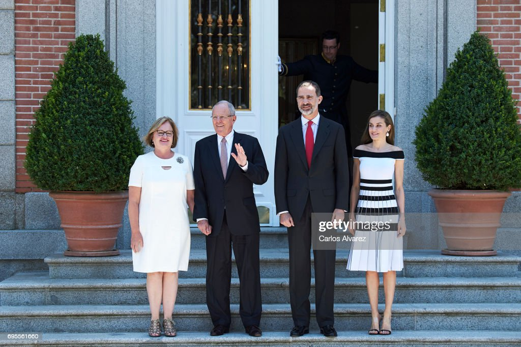 Spanish Royals Receive President Of Peru And His Wife