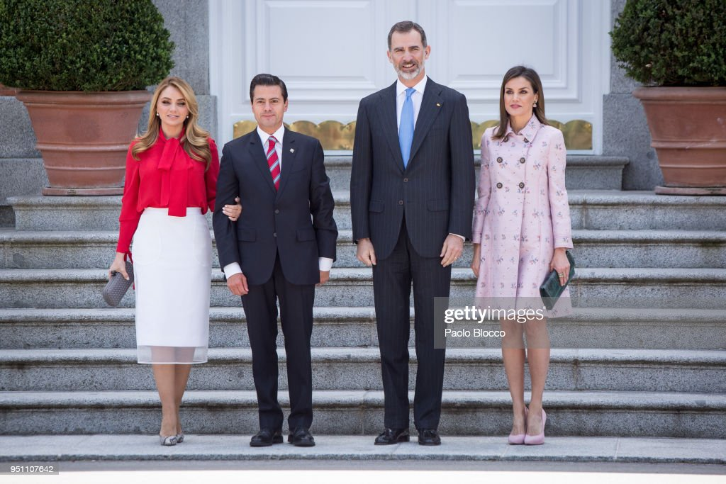 Spanish Royals Host A Lunch For President Of Mexico And His Wife : ニュース写真