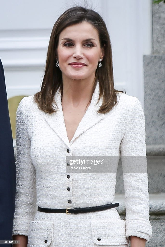Spanish Royals Receives President Of Colombia : News Photo