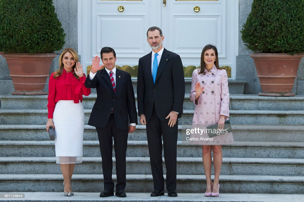 Spanish Royals Host A Lunch For President Of Mexico And His Wife