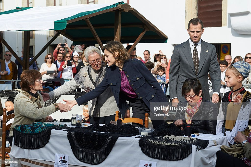 Spanish Royals Visit Colombres : News Photo