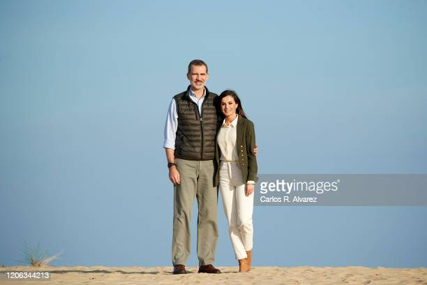 King Felipe VI of Spain and Queen Letizia of Spain visit Doñana National Park during the 50th anniversary commemoration of the Doñana National Park...