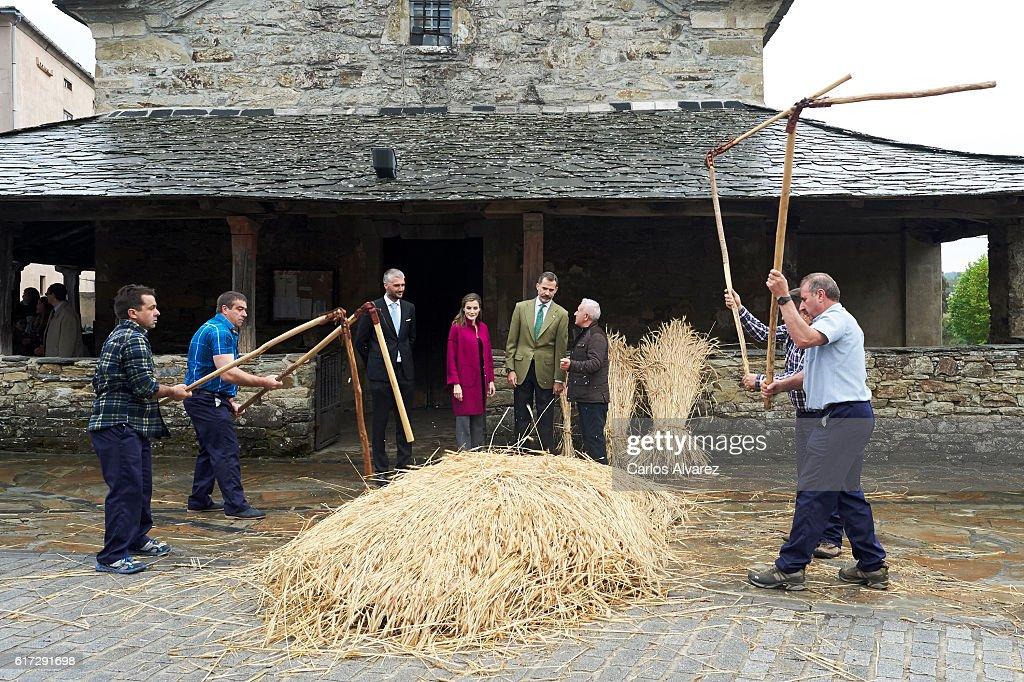 King Felipe VI of Spain and Queen Letizia of Spain (C) visit Los Oscos Region on October 22, 2016 in Los Oscos, Spain. The region of Los Oscos was honoured as the 2016 Best Asturian Village.