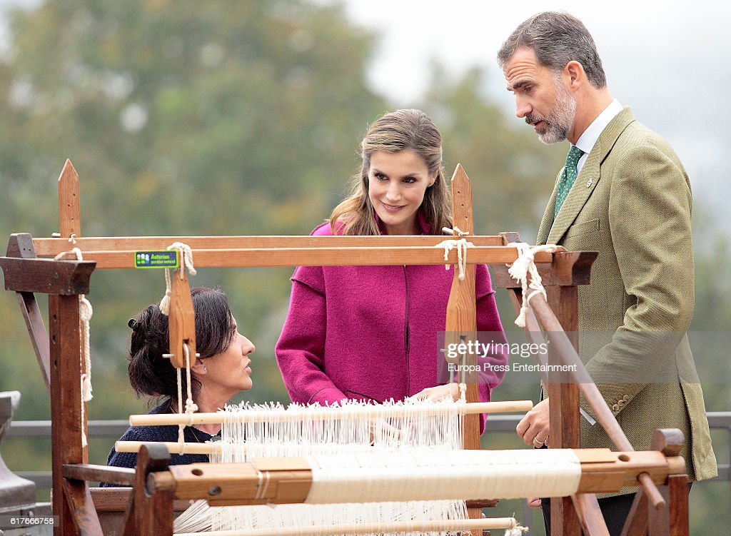King Felipe VI of Spain and Queen Letizia of Spain visit Los Oscos Region on October 22, 2016 in Los Oscos, Spain. The region of Los Oscos was honoured as the 2016 Best Asturian Village on October 22, 2016 in Los Oscos, Spain.