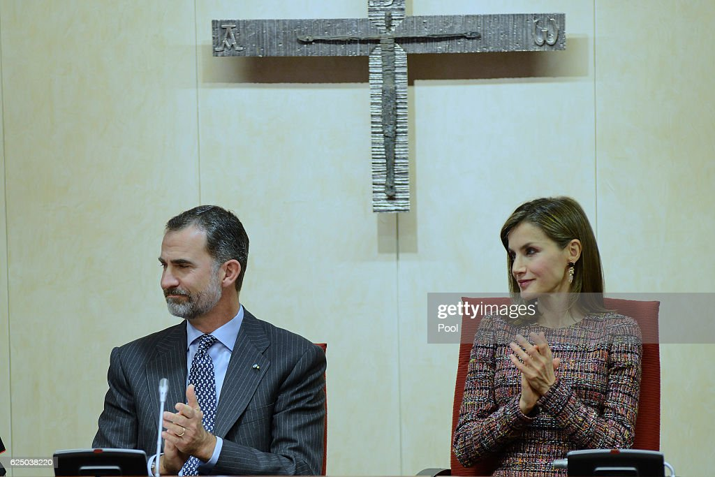 Spanish Royals Visit Spanish Episcopal Conference On Its 50th Anniversary : News Photo