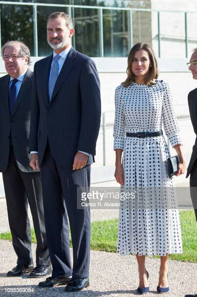King Felipe VI of Spain and Queen Letizia of Spain visit the Center of Laseres and inaugurate de Petavatio Laser ÔVega3Õ at the Science Park on...