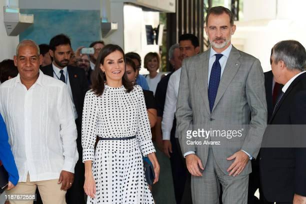 King Felipe VI of Spain and Queen Letizia of Spain visit the Molecular Immunology Center on November 14, 2019 in La Havana, Cuba. King Felipe VI of...