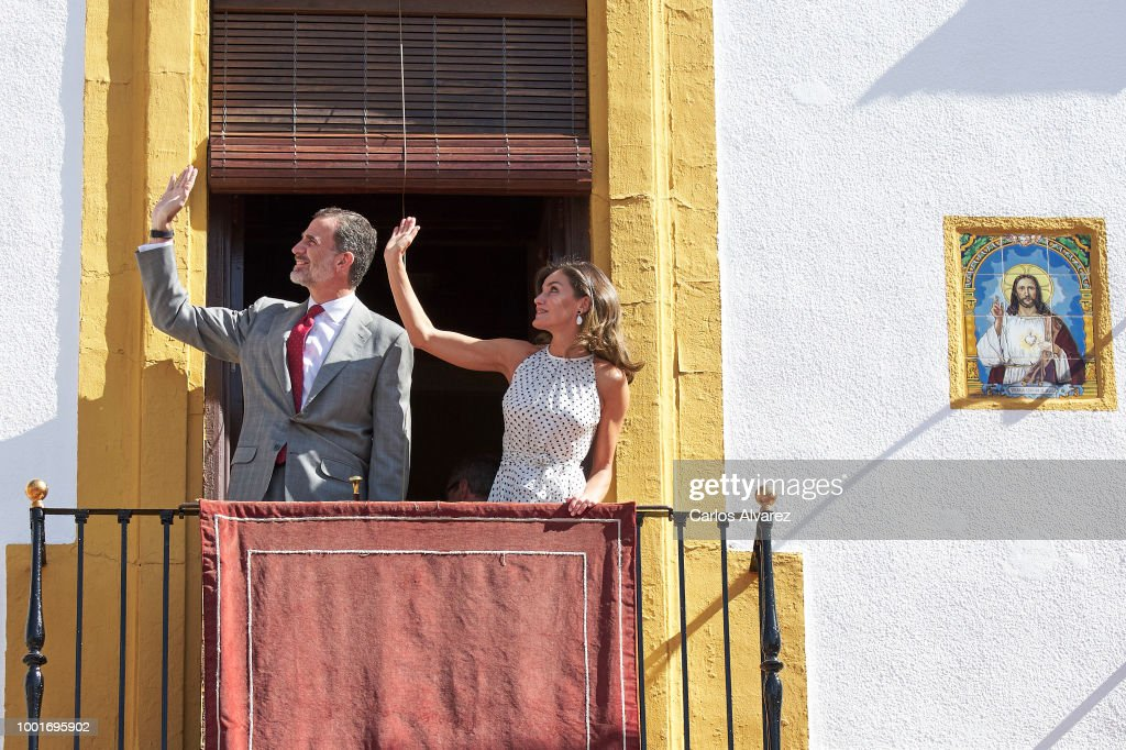 King Felipe VI of Spain and Queen Letizia of Spain visit the city of News Photo - Getty Images