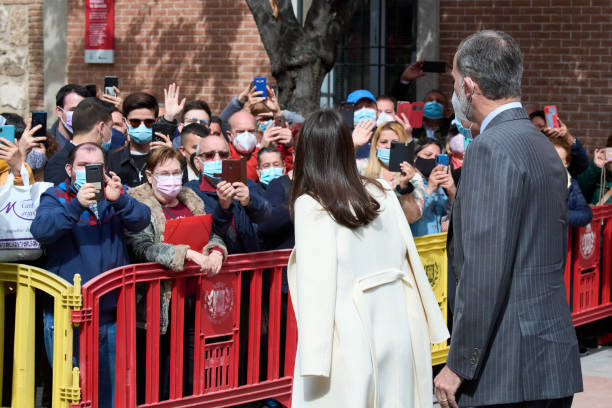ESP: Spanish Royals Attend A Visit to The Cervantes Institute For The World Book Day