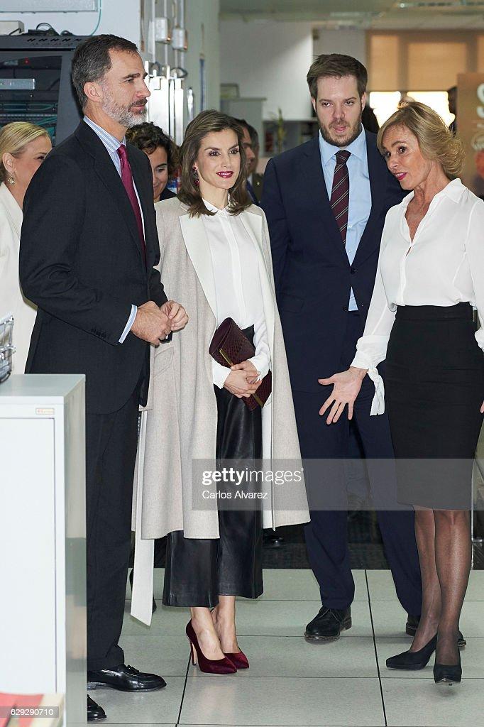 Spanish Royals Visit Zeta Group On Its 40th Anniversary : News Photo