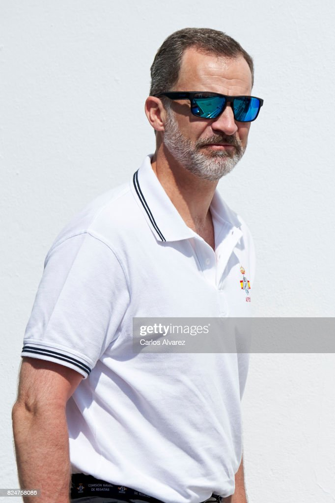 King Felipe VI of Spain arrives at the Royal Nautic Club during the 36th Copa Del Rey Mapfre Sailing Cup on July 31, 2017 in Palma de Mallorca, Spain.