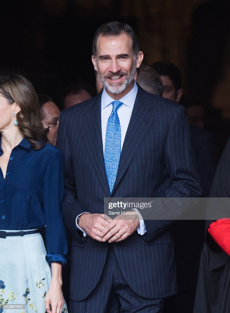 King Felipe VI of Spain arrives at Westminster Abbey during a State visit by the King and Queen of Spain on July 13, 2017 in London, England. This is the first state visit by the current King Felipe and Queen Letizia, the last being in 1986 with King Juan Carlos and Queen Sofia.
