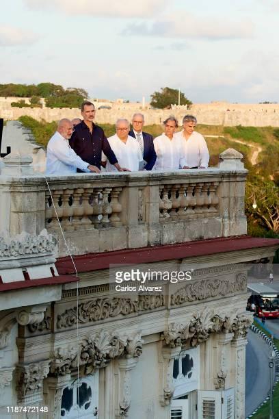 King Felipe VI of Spain attends '500 Anos de la Ciudad de La Havana' new book presentation at the Spanish Embassy on November 13, 2019 in La Havana,...