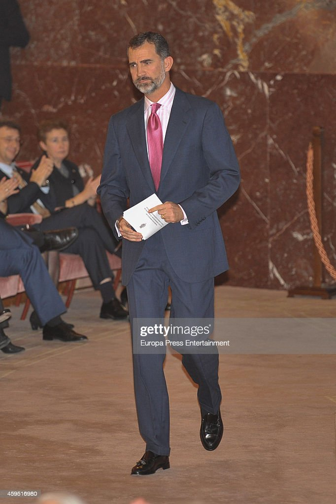 King Felipe VI of Spain attends 75th aniversary of CSIC at CSIC headquarters on November 24, 2014 in Madrid, Spain.