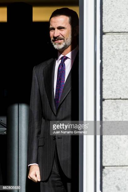 King Felipe VI of Spain attends a meeting for the commemoration of the First Expedition of Fernando de Magallanes and Juan Sebastian Elcano at the...