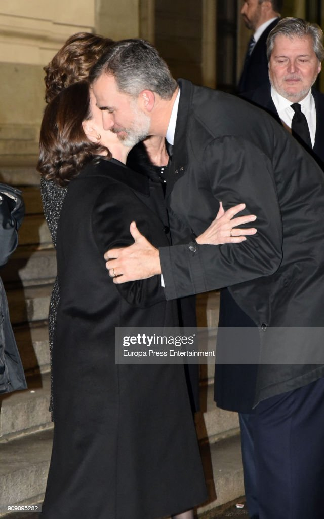 King Felipe VI of Spain Attends Aurelio Menendez's Funeral In Madrid