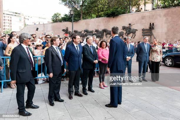 King Felipe VI of Spain attends Bullfights at Las Ventas Bullring on June 16 2017 in Madrid Spain