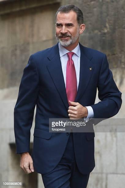 King Felipe VI of Spain attends Delivers 'Premio De Convivencia' Award at Palau de La Generalitat on January 18 2019 in Valencia Spain