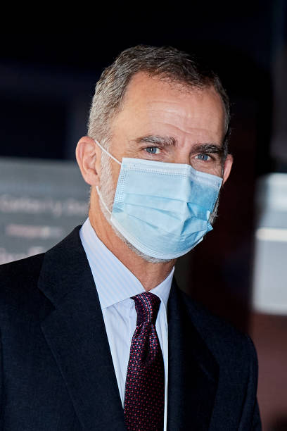 ESP: King Felipe Of Spain Arrives To The 'Freelancer of The Year Awards' In Madrid