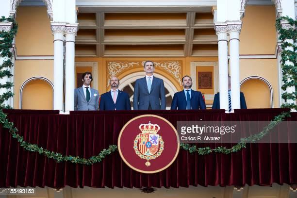 King Felipe VI of Spain attends La Beneficiencia Bullfight at Las Ventas Bullring on June 12 2019 in Madrid Spain