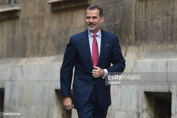 King Felipe VI of Spain attends 'Premio De Convivencia' Award at Palau de La Generalitat on January 18 2019 in Valencia Spain