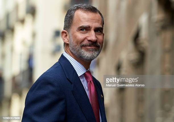 King Felipe VI of Spain attends 'Premio De Convivencia' Award at Palau de la Generalitat on January 18, 2019 in Valencia, Spain.