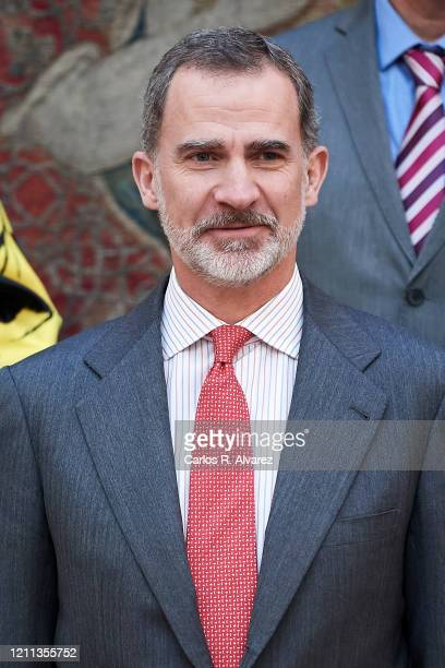King Felipe VI of Spain attends 'Que Es Un Rey Para Ti' awards at El Pardo Palace on March 09, 2020 in Madrid, Spain.