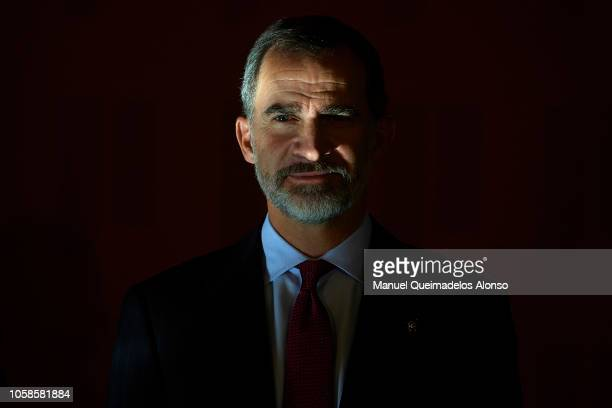 King Felipe VI of Spain attends 'Rey Jaime I Awards' at Lonja de los Mercaderes on November 7, 2018 in Valencia, Spain.